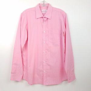 CALVIN KLEIN Men's Non Iron Button Front Shirt S